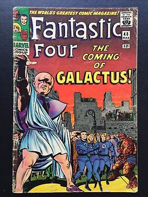 """Fantastic Four #48 March 1966 GD """"THE COMING OF GALACTUS!"""""""
