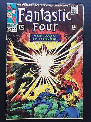 "Fantastic Four #53 August 1966 VG ""THE WAY IT BEGAN!"""