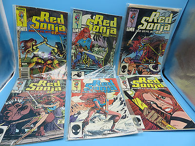 Lot of 6 Red Sonja Comic Books - Marvel - Volume 3, #2 6 7 8 10 13 -  High Grade