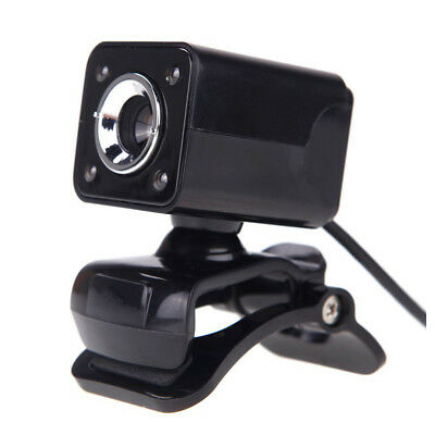 USB 2.0 12 Megapixel HD Camera Web Cam w/ MIC Clip-on Night Vision 360 Degr L2W8