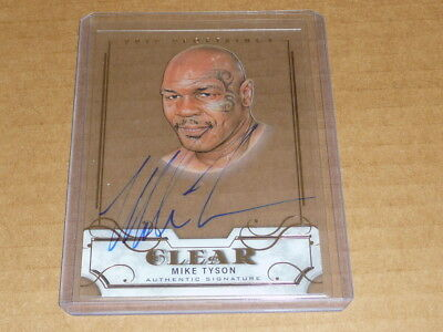 2017 Leaf Sports Heroes CLEAR MIKE TYSON AUTOGRAPH/AUTO BOXING O7624