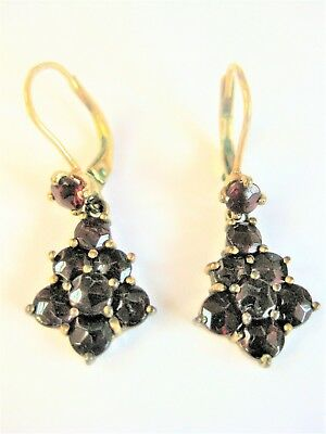 Antique Earrings Gold 333 with Garnet, 2,63 G