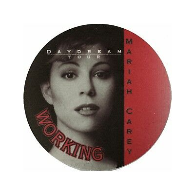 Mariah Carey authentic 1996 Daydream Tour satin cloth Backstage Pass red