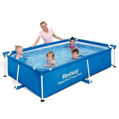 Bestway Steel Pro Rectangular Swimming Pool 239x150x58cm Blue Polyester Mesh