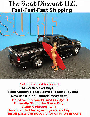 Surfer Katie American Diorama Figure 1:24 Scale with surfboard