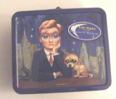 Late Night with Conan Obrien TV Show Metal Tin Lunchbox Big Eye Characters