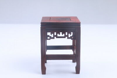 100% natural Exquisite Chinese carving Red Suanzhi wood base  ac54