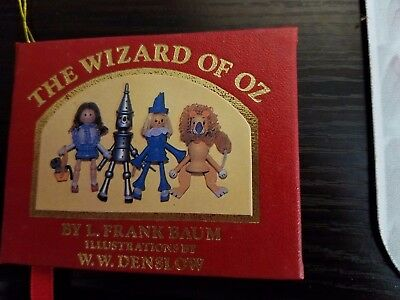 Vintage 1984 Kurt Adler THE WIZARD OF OZ Miniature Red Book Christmas Ornament!!