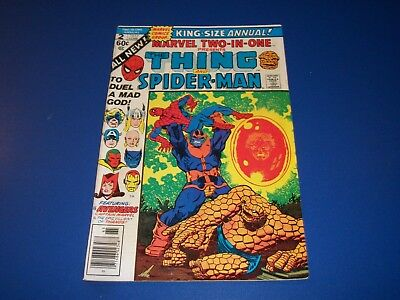 Marvel 2 in 1 Annual #2  Thanos Avengers Huge Key Wow Starlin Spider-man