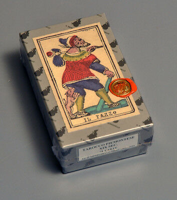 TAROCCO PIEMONTESE LATE 1800's STRAMBO TAROT CARD DECK SEALED REPLICA *NIB*