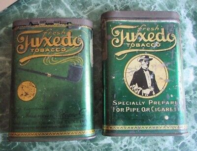 2 Tuxedo Tobacco Tins - Each Have Same Images  -