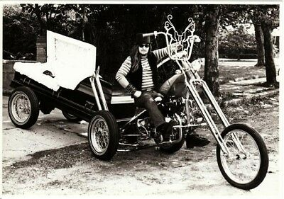 Mortician From Hell Steve Bonge on Coffin Chopper Motorcycle Postcard
