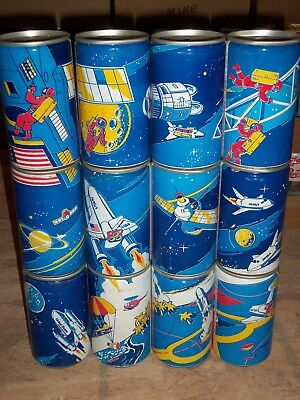 Complete 12 can Space Pepsi set from Germany 1984