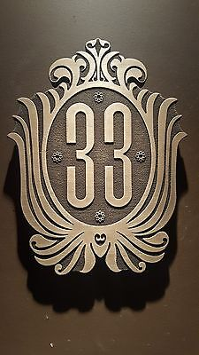 Disneyland club 33 inspired plaque sign