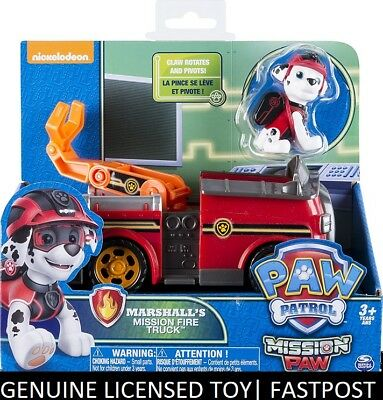 Paw Patrol MISSION PAW - MARSHALLs MARSHALL's Mission Fire Truck and Marshall