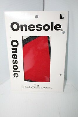 Onesole Red Snap on interchangeable shoe Large Quick Change Artist Travel shoe
