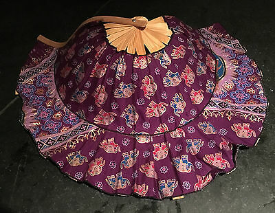 Thai Embroidered Shoes & Fan Hat