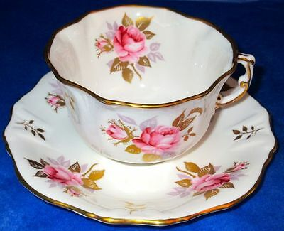 Hammersley & Co Beautiful LADY VALERIE Bone China Cup & Saucer MINT