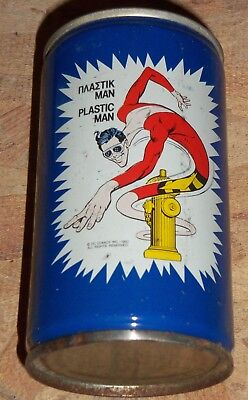 Extremely rare Plastic Man Pepsi can from Greece 1982 DC Comics