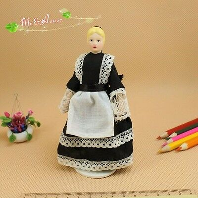 1:12  Dollhouse Miniature Dolls  Poseable Porcelain pretty Nanny Chambermaid