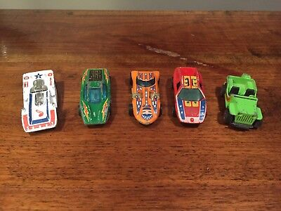 Lot (5) Vintage 1960s 1970s HOT WHEELS REDLINE Twinmill Large Charge Grass Hoppe
