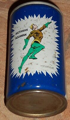 Extremely rare Aquaman Pepsi can from Greece 1982 DC Comics