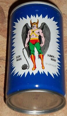 Extremely rare Hawk-Man Pepsi can from Greece 1982 DC Comics