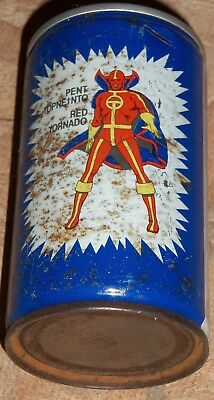 Extremely rare Red Tornado Pepsi can from Greece 1982 DC Comics