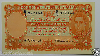 1952 Ten Shillings Coombs / Wilson Banknote In Extremely Fine Condition