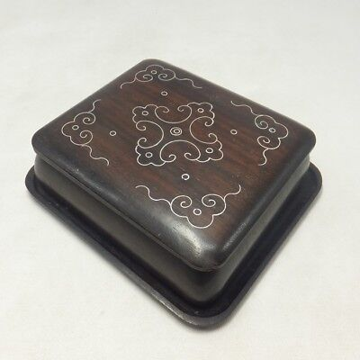 A17: Japanese wooden accessory case made from popular KARAKI with inlay work
