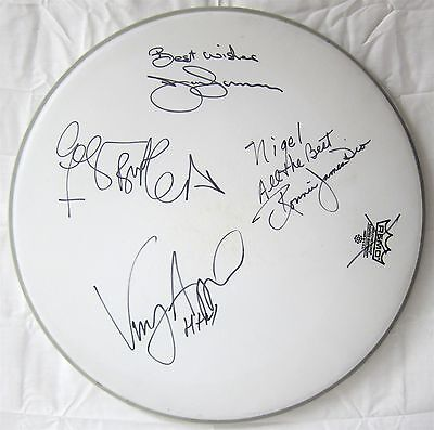 HEAVEN & HELL authentic autographed DRUM HEAD signed 2008 tour BLACK SABBATH DIO