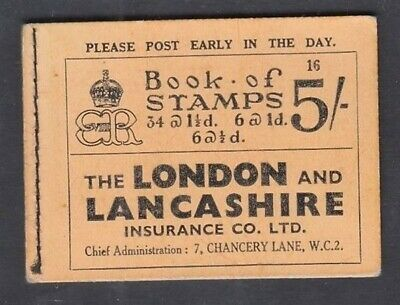 Gb 1937 Keviii 5/- Booklet Edition #16 (Id:291/d48388)