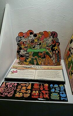 Vintage Mickey Mouse Pop-Up Play Set Colorforms Activity Toy # 4100 Walt Disney
