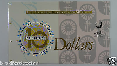 1994 Dated Annual Issues $10 Premium Low Numbered Banknote Folder