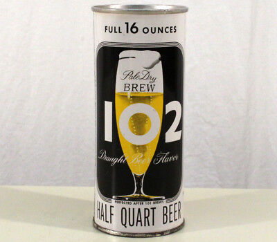 Brew 102 *alum Soft Top* 16 Ounce Flat Top Beer Can Maier Los Angeles California