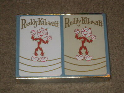 NEW,  Factory Sealed Double Deck Vintage Reddy Kilowatt Playing Cards