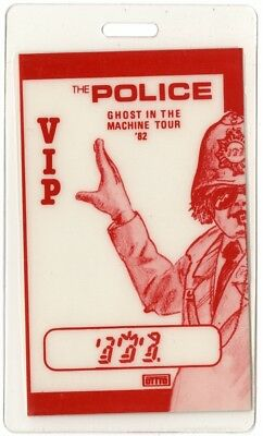 The Police authentic 1982 Laminated Backstage Pass Ghost in Machine Tour Sting