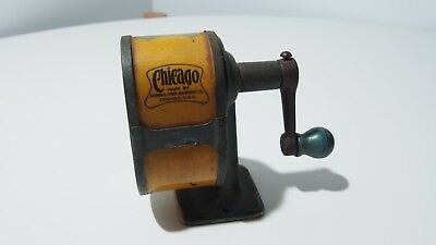 Antique Chicago Hand Wind Pencil Sharpener 1920's (not working) - Made in USA