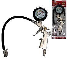 Pistol Grip Air Tire Inflator pump W/ Dial Gauge 0-10 Bar/0-140 Psi nozzle grip