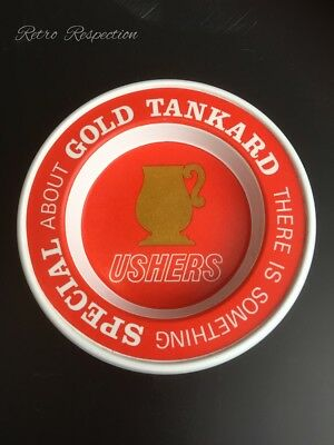 RETRO Ushers Gold Tankard Beer Ashtray