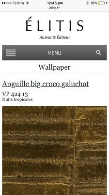Elitis Anguille euroclass wallpaper retail $395 ea home renovations X 7 Roles