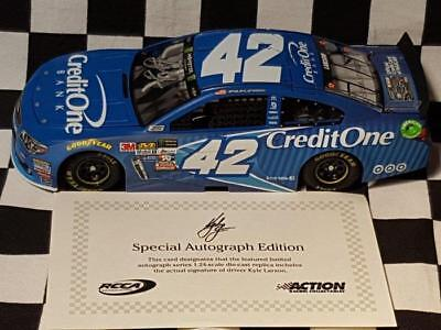 "2017 Kyle Larson Credit One Autographed ""Gen 6"" 1:24th Chevrolet SS NASCAR"