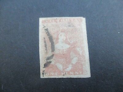 Victoria Stamps: 1854 - 1857 (1855) SG 27a Used - Half Length (A55)