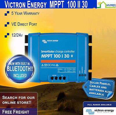 Victron SmartSolar MPPT Charge Controller 100/30 (12/24V) BUILT IN BLUETOOTH