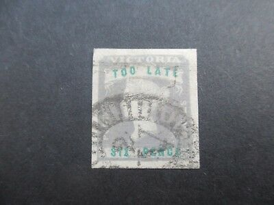 Victoria Stamps: Too Late Stamp 01/01/1855 Used (A62)