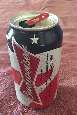 Empty Budweiser Beer Can USA Flag Patriotic