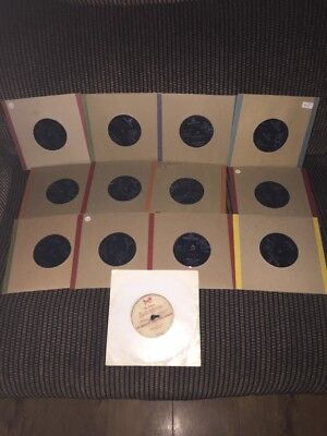 "job lot 12 The beatles 7"" vinyl single records - listed - rare christmas flexi"