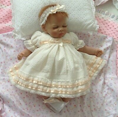 """** Miss Polly's Dollies Baby Doll's CLOTHES ** DRESS SET Fits 18"""" REBORN DOLLS"""