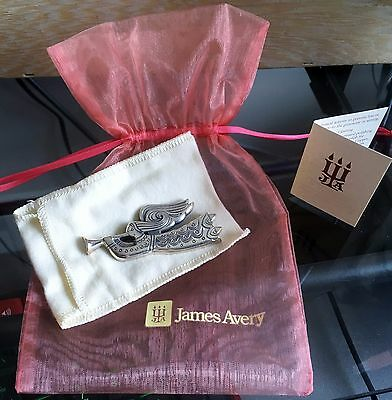 James Avery Angel Pin, #jps862, Sterling Silver, Retired, Excellent Condition