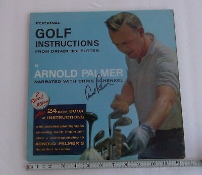 "Arnold Palmer Signed Vintage ""Personal Golf Instructions"" Record Album Set 1963"